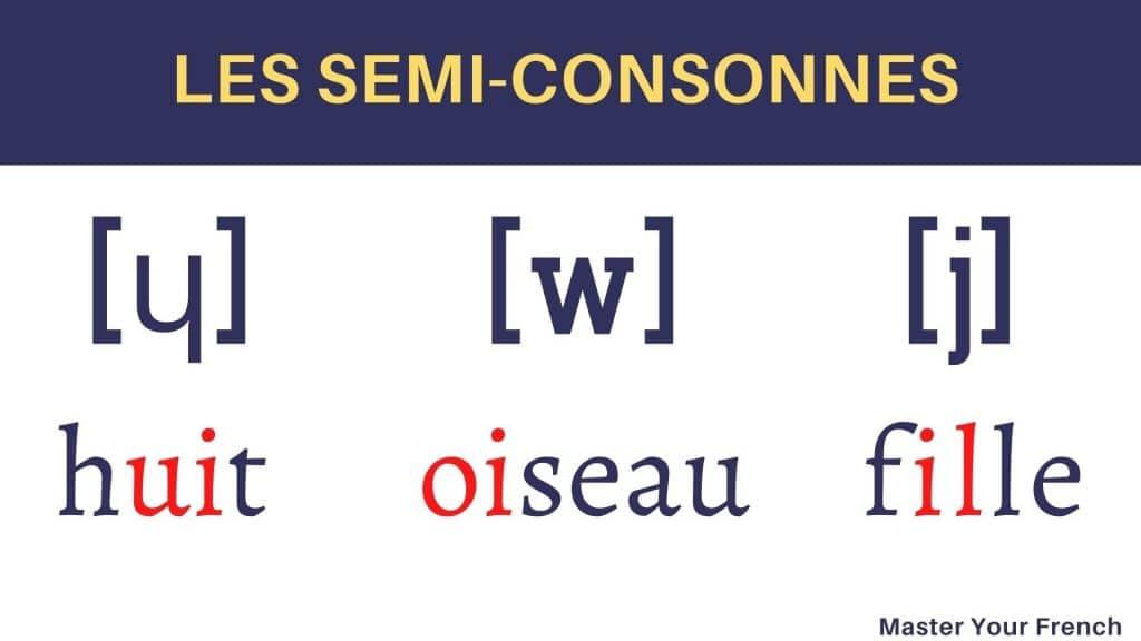semi consonnes francais