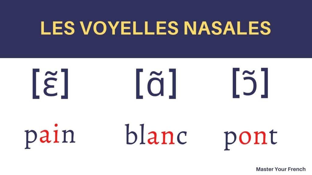 voyelles nasales francais