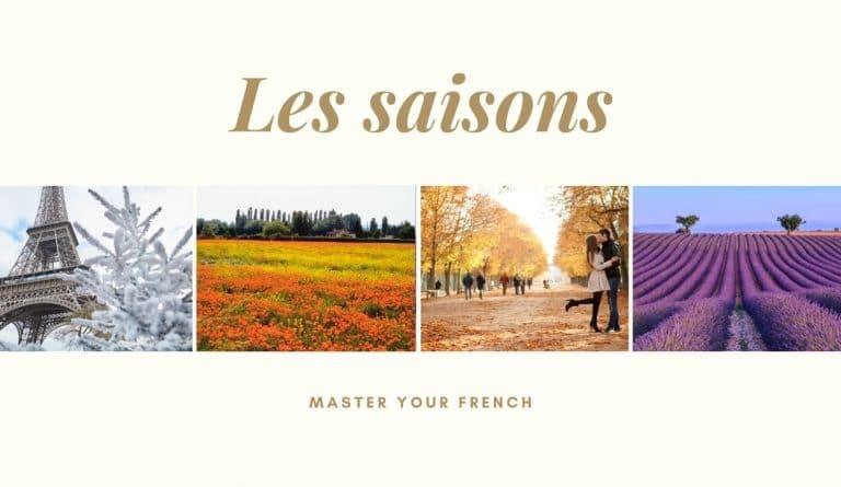 les saisons en francais hiver printemps automne été