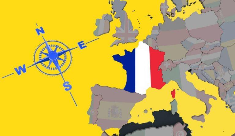 directions nord sud est ouest boussole carte europe france