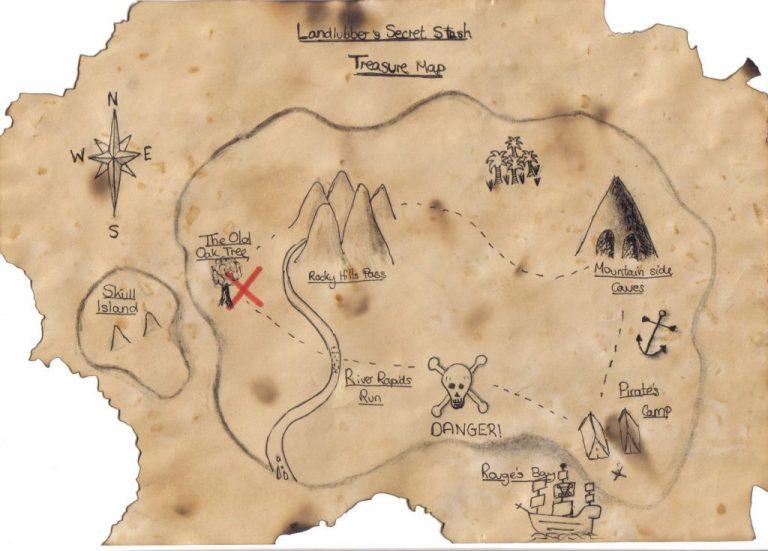 ancienne carte trésor ile