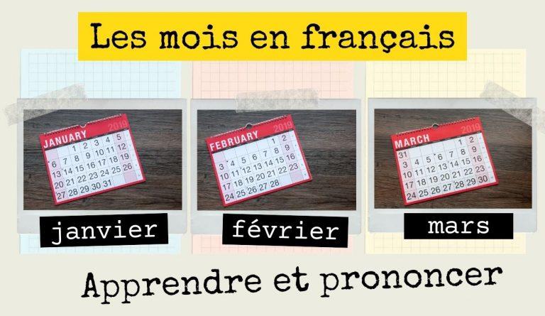 apprendre les mois en français