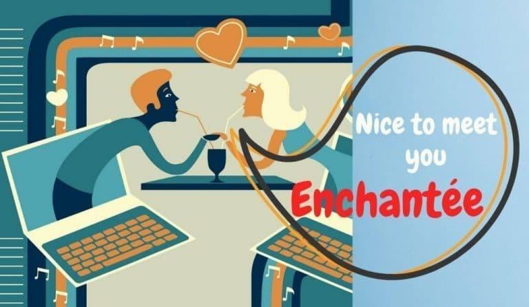 nice to meet you enchanté text