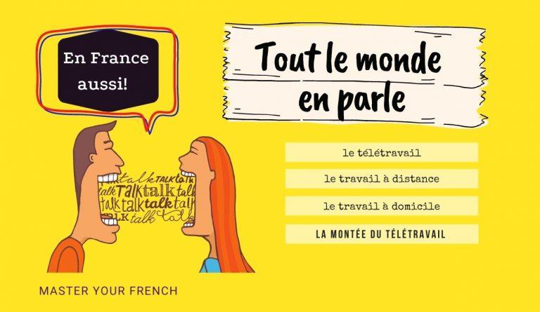 personnes parlent télétravail en français