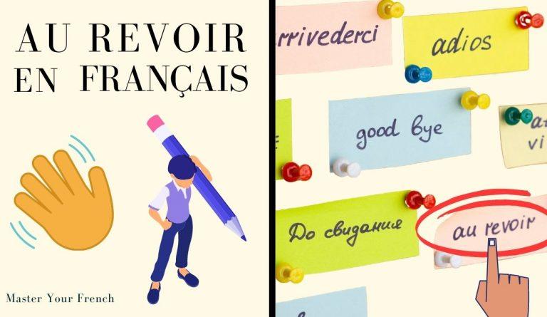 au revoir en français