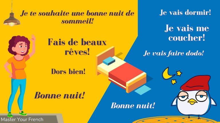 expressions pour dire bonne nuit en français