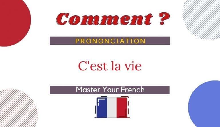comment prononcer c'est la vie en français