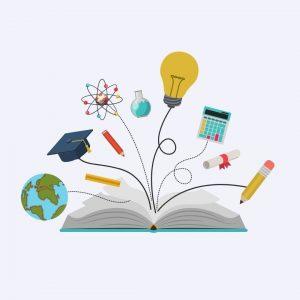 livre avec objets educatifs