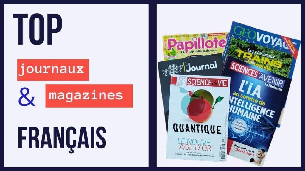 apprendre le français journaux et magazines