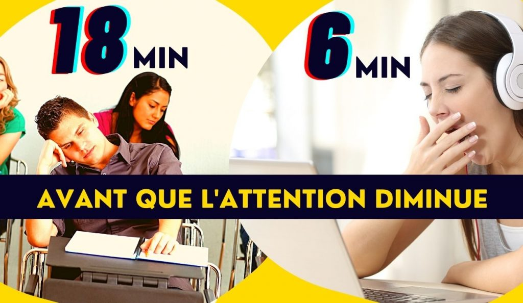 diminution attention cours a distance