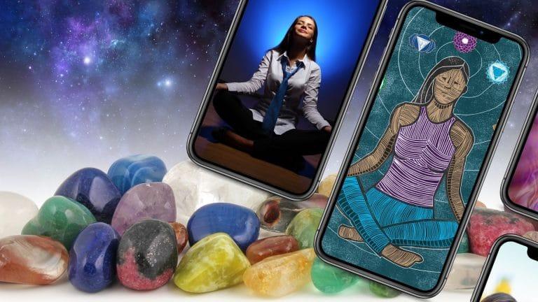 applications pour mediter en francais avec cristaux