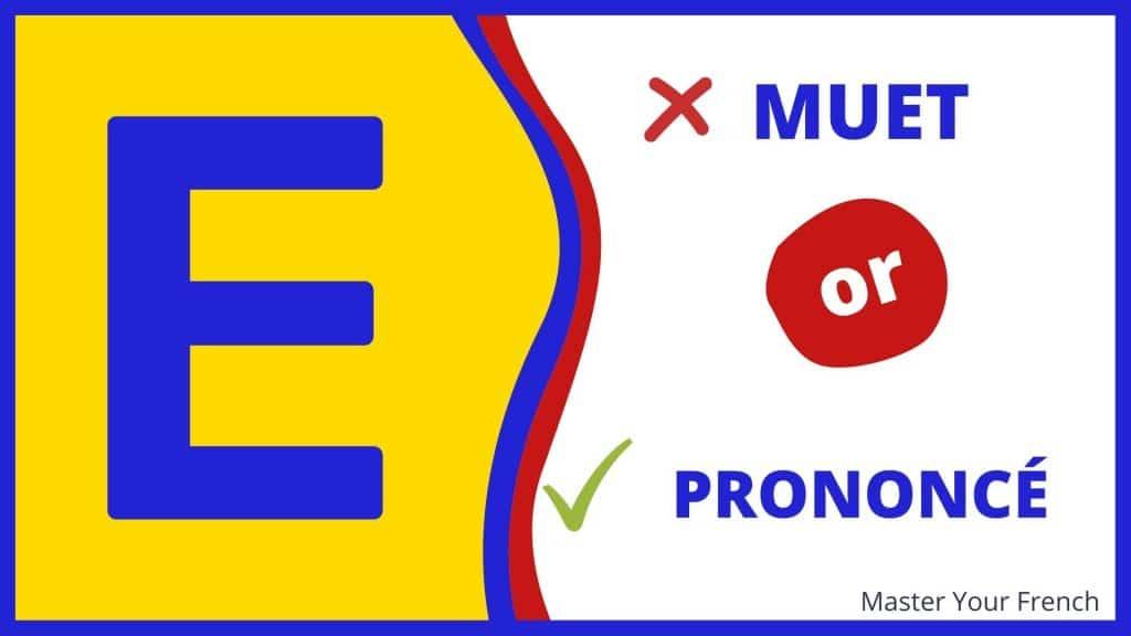 prononciation du e muet en francais