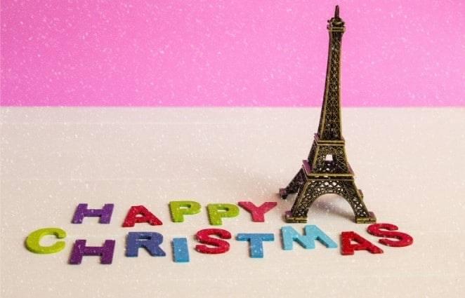 small eiffel tour happy christmas