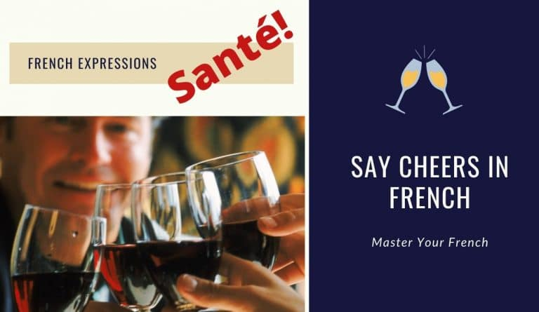 sante cheers in french glasses