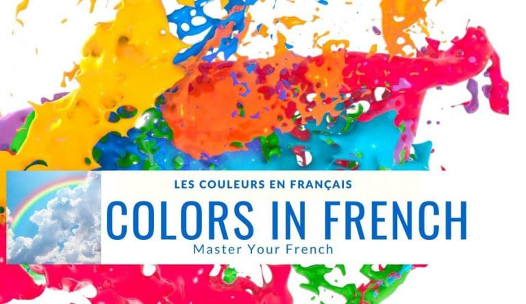 colors yellow orange blue with others in french