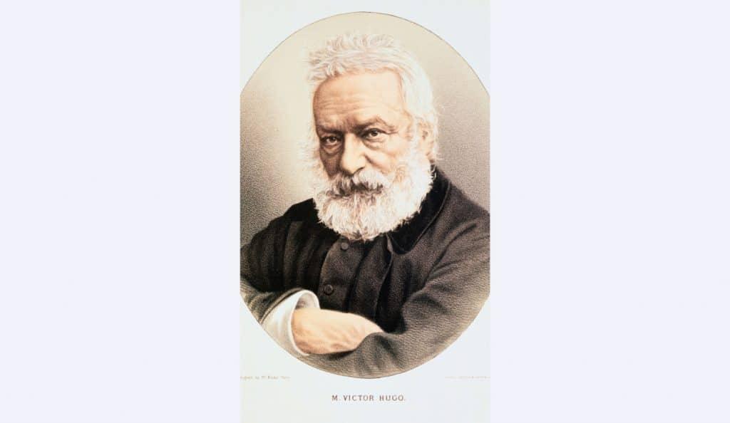 portrait french poet victor hugo
