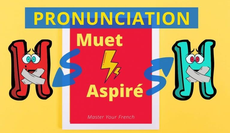 french pronunciation letter h aspirated muted