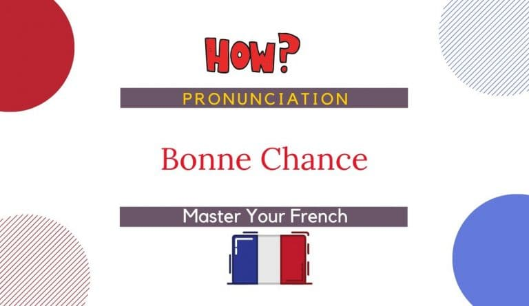 how to pronounce bonne chance in french
