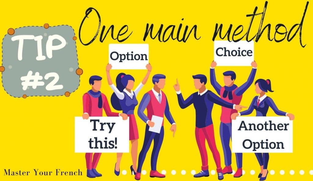 tip to choose one main method