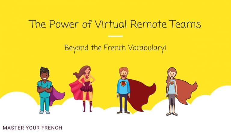 illustration power of virtual remote team heroes