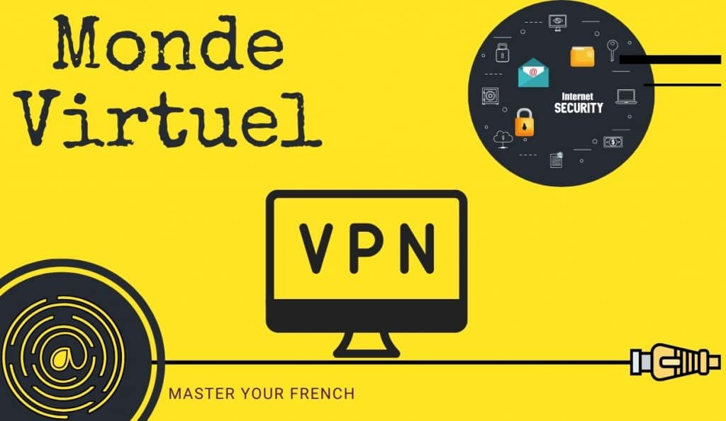 illustration internet security virtual private network