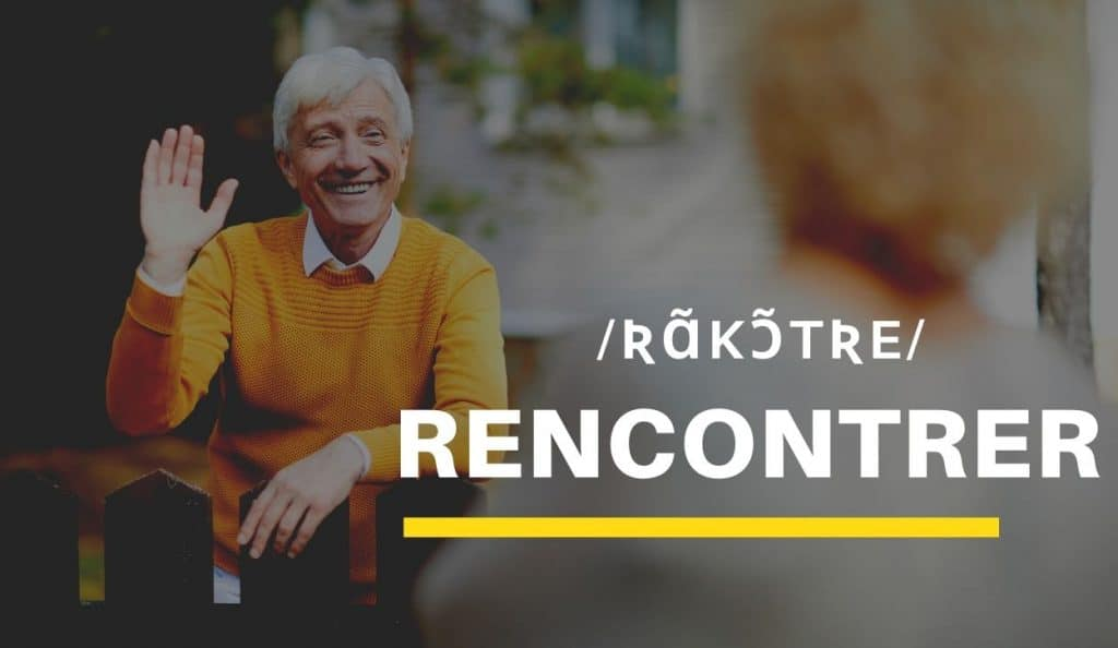neighbors meeting with text rencontrer