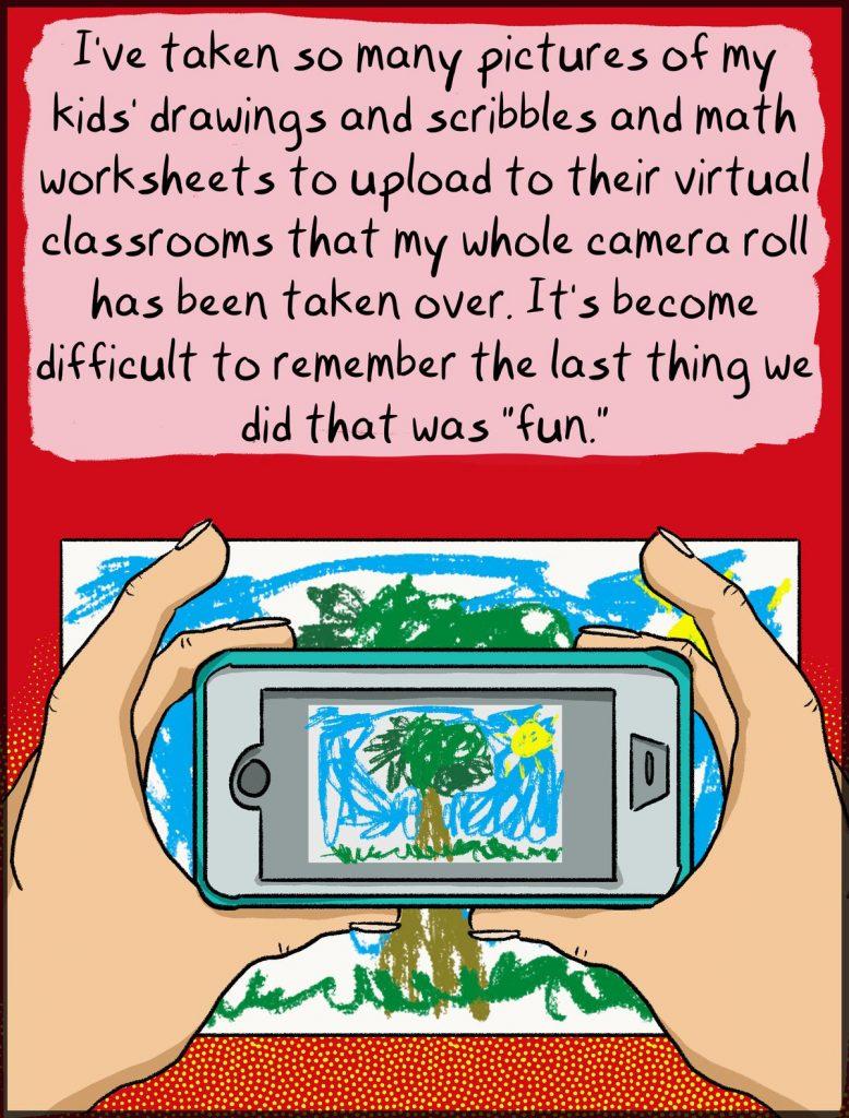 comic cartoon taking picture kids drawings