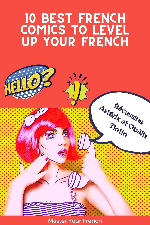 french comics shows women calling astérix obélix tintin and bécassine