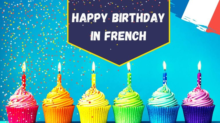Happy birthday in French