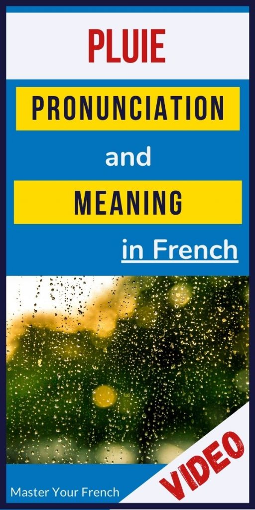 pronunciation and meaning of pluie in french