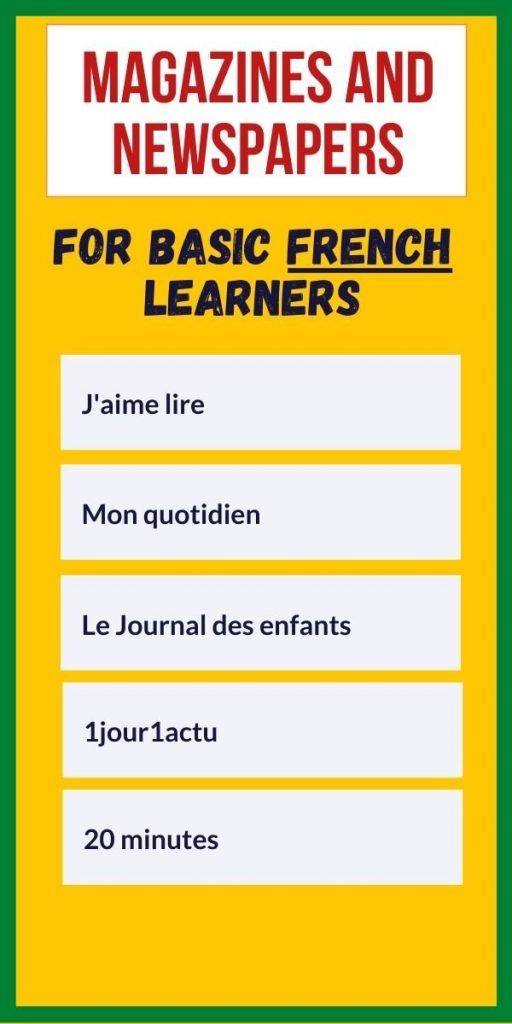 french magazines for basic learners