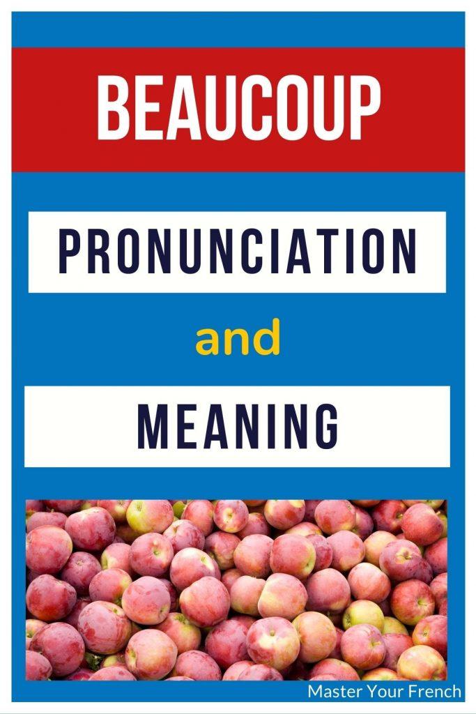 beaucoup pronunciation