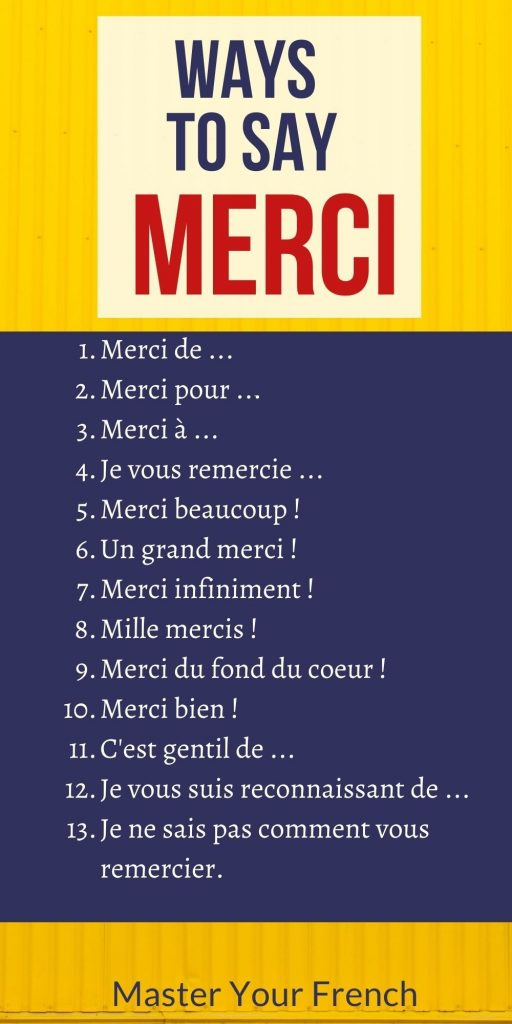 ways to say merci thank you in french