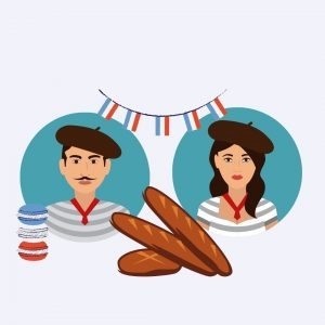 french man and woman