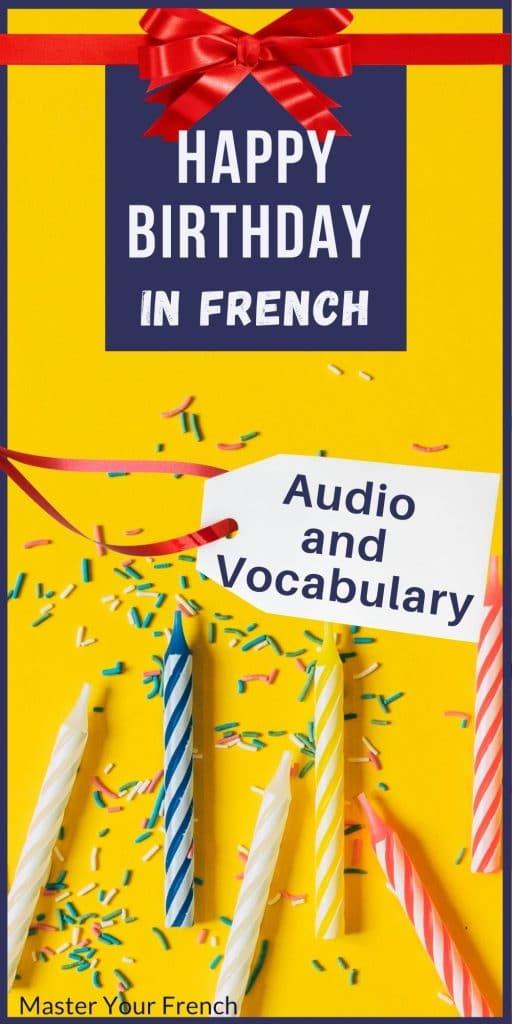 french birthday vocabulary