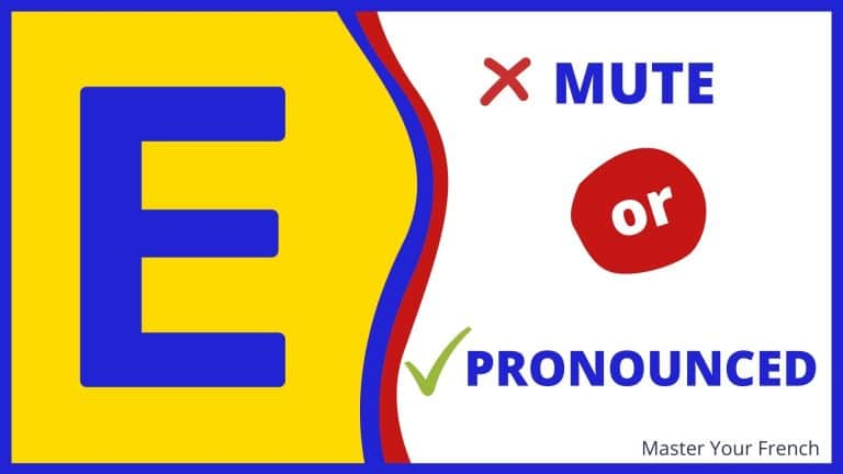 pronunciation of the mute e in french